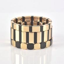 Shinus модные браслеты для мужчин плитка браслет из бисера ручной работы ювелирные изделия для женщин Последняя мода браслет Зебра полосы