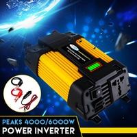 Dual USB 6000W DC 12V TO 110/220V AC Solar Car Power Inverter Charger Converter Adapter 12V TO 110/220V Sine Waves Converter
