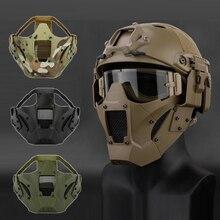Страйкбольная пейнтбольная маска для охоты тактическая Боевая полумаска для лица Военная военная игра Защитная маска для лица Черный загар зеленый
