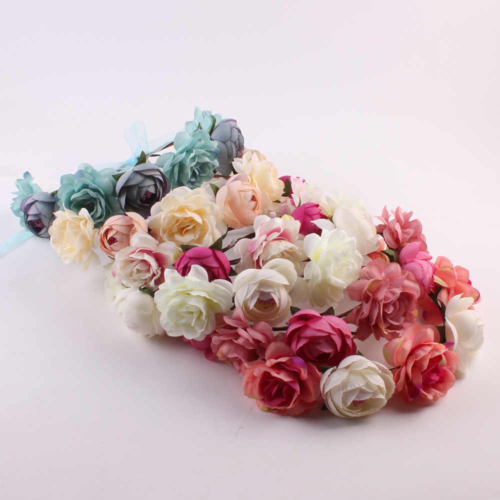 Braut Team Künstliche Blumen Band Bachelor Party Hochzeit Gefälligkeiten und Geschenke Gefälschte Künstliche Blumen für Hochzeit Dekorationen, Q