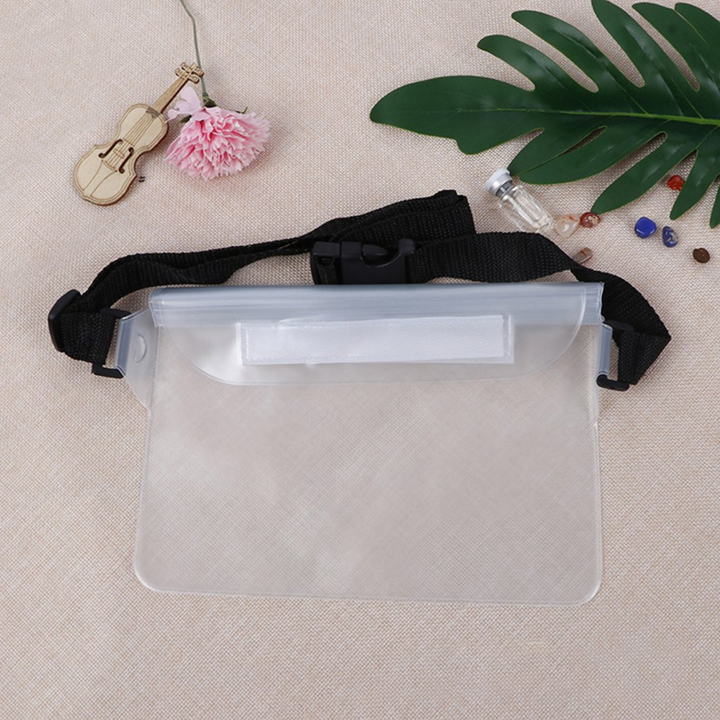 Outdoor Swimming Mobile Phone Waterproof Waist Bag Transparent Hot Spring Beach Pvc Collection Bag Waterproof Bag