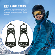 Ice-Gripper Stud-Shoes for Snow-Crampons Anti-Slip Hiking Cleats Spikes Traction 8 8-Teeth