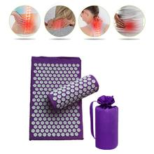 Massager (appro62*38cm)Cushion Massage Mat Acupressure Relieve Back Body Pain Spike Mat Acupun...