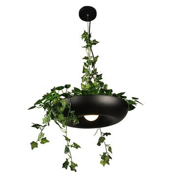 Nordic Plant Pendant Lights DIY Sky Garden Lamp Flower Pot Hanging Lamp Dining Room Restaurant Bar Lighting Fixtures Home Decor