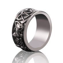 Personality Male Nordic Mythology Giant Wolf Fenil Defense Totem Amulet Finger Rings Hip Hop Pirate Wolf Ring For Men стоимость