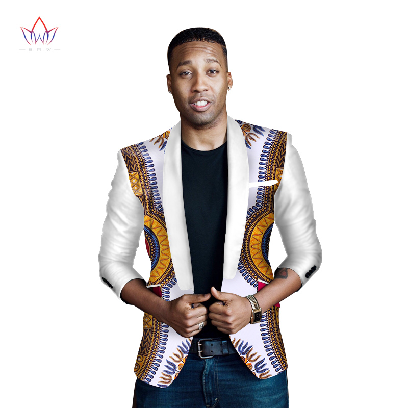 African Clothing Dashiki Print Suit For Men Casual Jacket Coat Fashion Blazer Men Brand Clothing Slim Elegant Plus Size WYN262