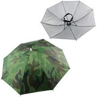 2PCS Umbrella Hat Headwear for Outdoor Fishing Gardening Beach (Camouflage) Fishing Caps     -