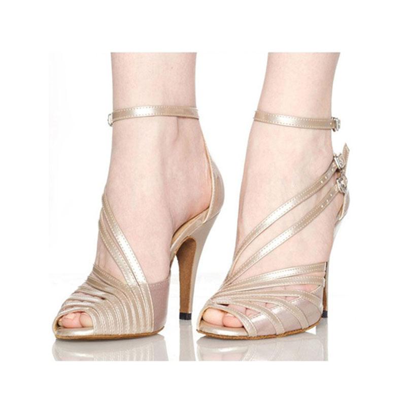 Women Latin Ballroom Dance Shoes Female Salsa Sandal Soft Sole Kizomba Samba Tango Dance Shoes High Heels 6/7.5/8.5cm