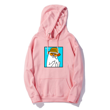 2019 Hoodie New Style European And American Streets Popular Brand Cheap Cat Printed Ripndip Men And Women Couples Hooded Pullove
