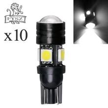 10 Pcs T10 12v Auto 5050 led bulb t10 W5W 4smd 3w small light width 4+1 white