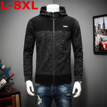 new high quality spring and autumn big size Men Jacket Men Hoodie Jacket cotton High Quality Masculino Plus size 8XL 7XL(China)