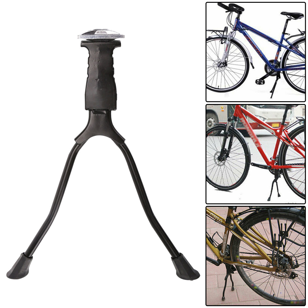 Parking Rack Easy Install Bike Kickstand Universal Adjustable Foot Stand Center Mount Cycling Double Leg Holder Aluminum Alloy