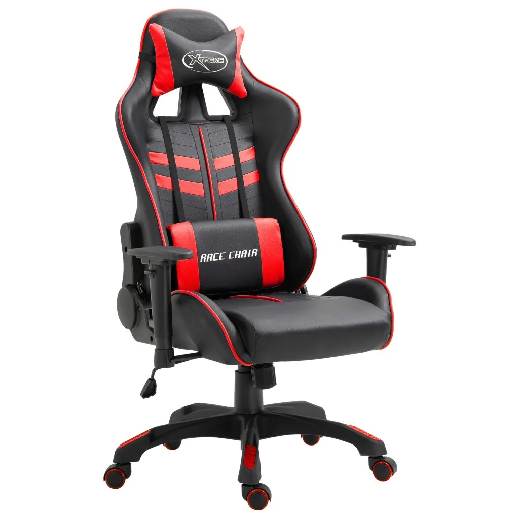 VidaXL Ergonomic Computer Gamer Chair Home Cafe Chair With Footrest Height-Adjustable Design Office Chair Furniture