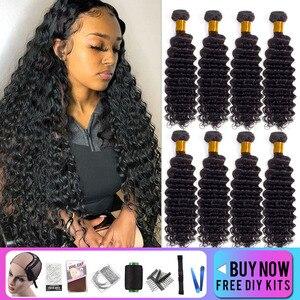 Deep Wave Bundles Double Weft,Brazilian Hair Weave Human Hair Bundles Hair Vendors Wholesale Bundles Remy Hair Extension Vrvogue
