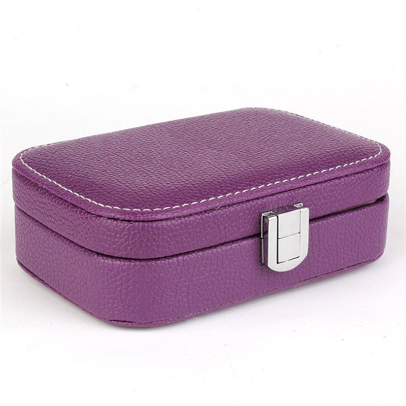 Candy Color Portable Jewelry Case High Quality Leather Jewelry Box Princess Dressing Intimate Gift /Casket/Jewelry Display