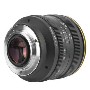 Image 4 - Kamlan 50mm f1.1II büyük diyafram manuel odak APS C aynasız lens CanonM Sony E Fuji M43 montaj kamera