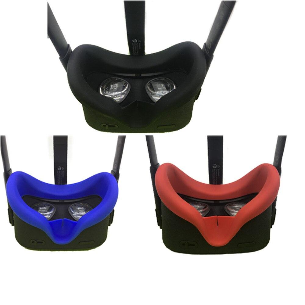 Macio Anti-suor Silicone Tampa Máscara de Olho para Busca Oculus VR Óculos Unisex Anti-vazamento de Bloqueio da Luz Rosto tampa Do olho Pad