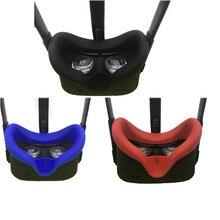 Yumuşak Anti ter silikon göz maskesi kapak Oculus görev VR gözlük Unisex Anti kaçak ışık engelleme yüz göz kapağı pedi