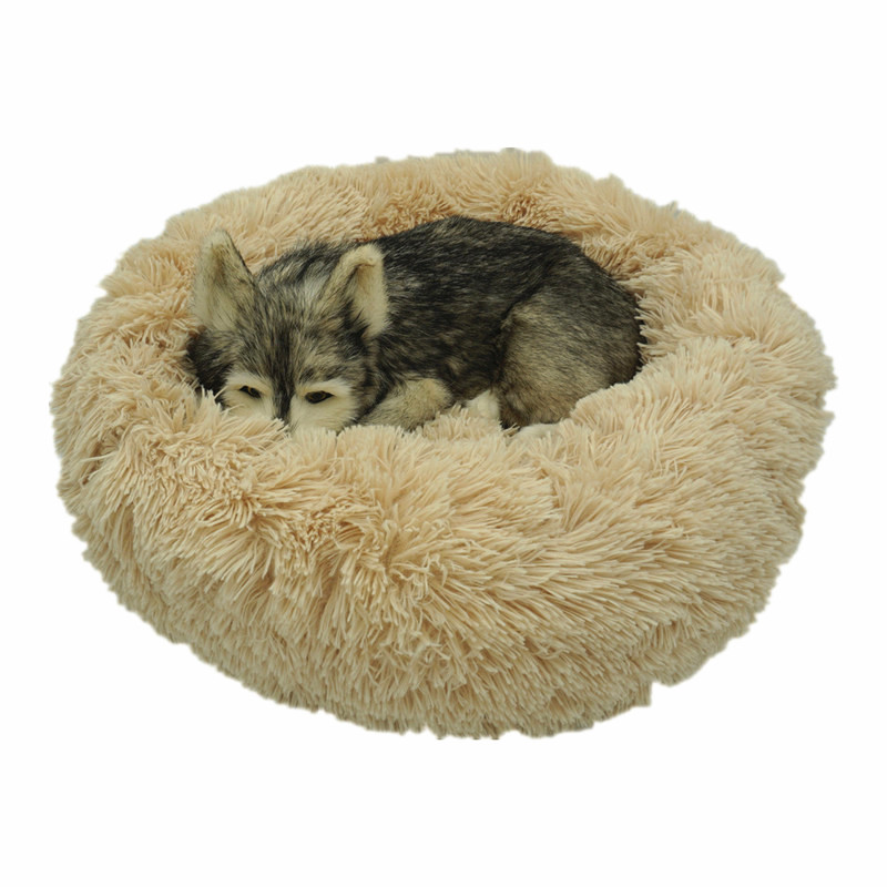 Dog Bed Long Plush Round Cat House For Small Large Medium Pets Puppys Overseas Warehouse  Dropshipping 1