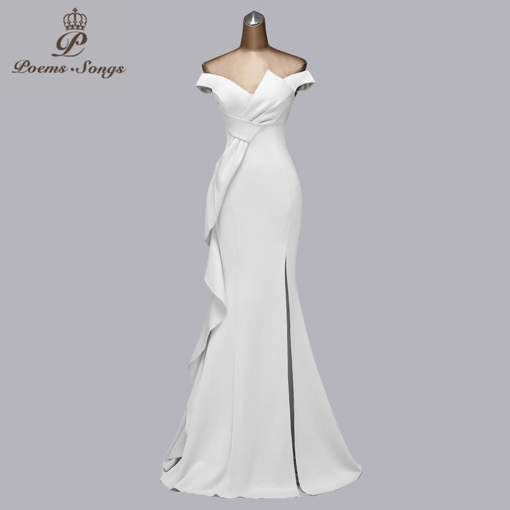 Candy color evening dresses prom dresses 2021 mermaid evening gown boat neck vestidos de fiesta de noche party dresses