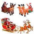 210cm gigante inflable Santa Claus doble ciervo trineo LED iluminado al aire libre decoración de Navidad decoración de Año Nuevo adornos de accesorios de Navidad 2019