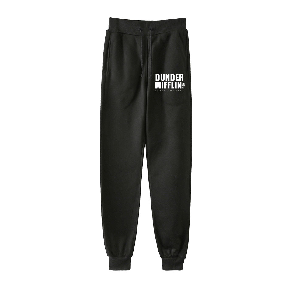 Mens Sweatpants Print The Office TV Show Dunder Mifflin Autumn Winter Man Gyms Fitness Bodybuilding Joggers Workout Trousers
