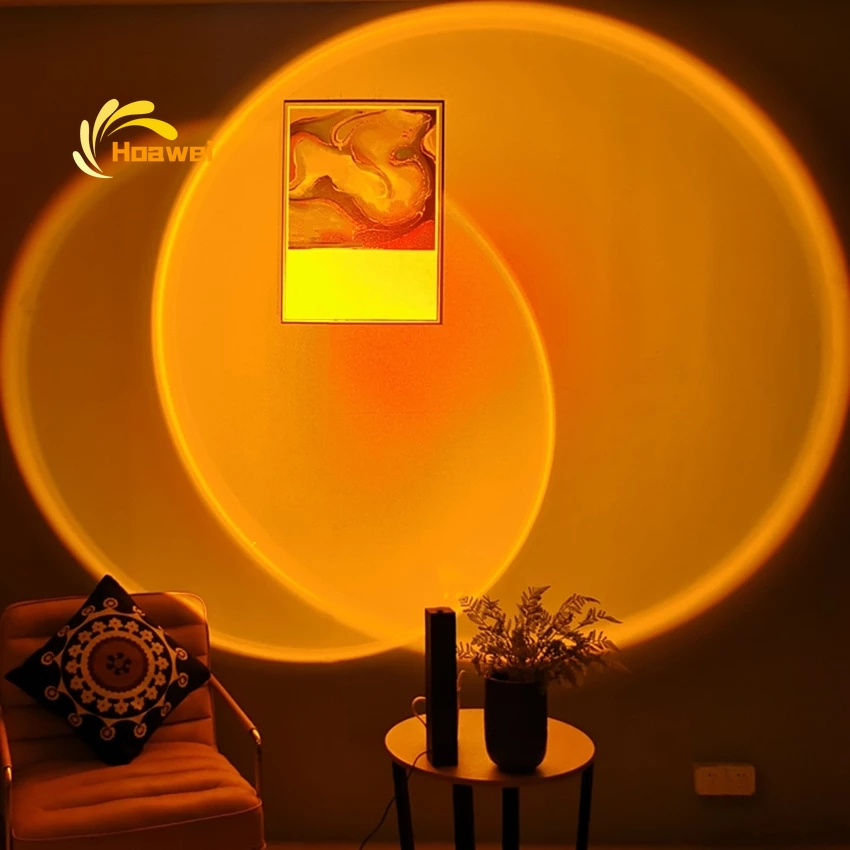 Nordic светодиодный закат Торшер для дома Гостиная Спальня украшения атмосферу торшер Спальня красочные Освещение в помещении