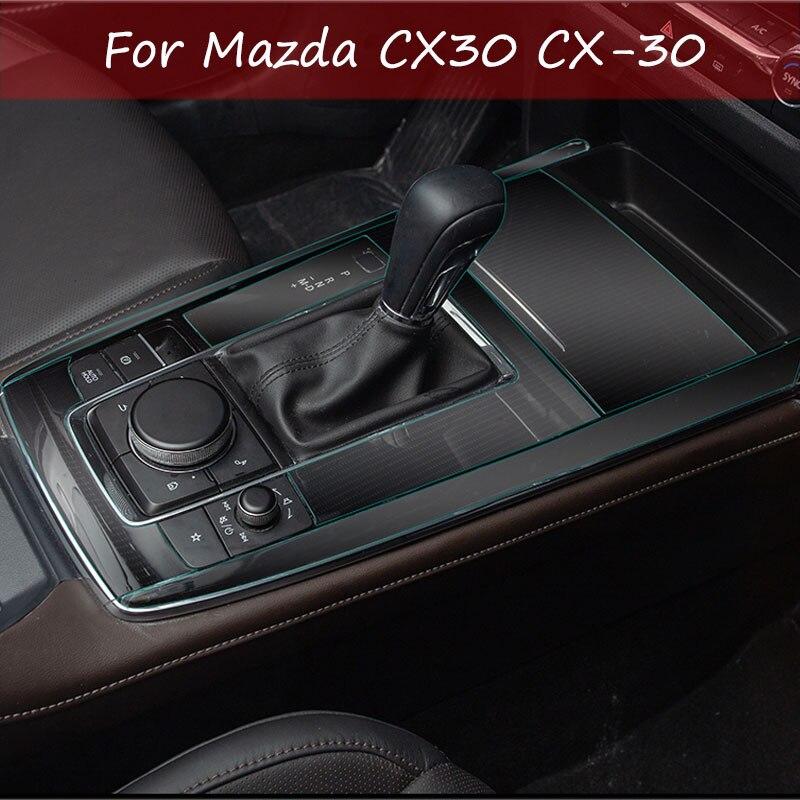 Cambio de marchas, marco de Panel de membrana, película protectora para Mazda CX30 CX-30 2020 2019, modificación Interior, decoración de coche