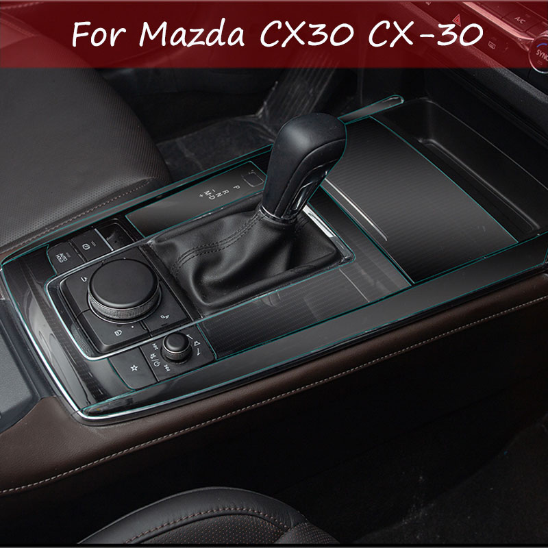 Gear Shift Frame Panel Membrane Protective Film For Mazda CX30 CX-30 2020 2019 Interior Modification Car Decoration