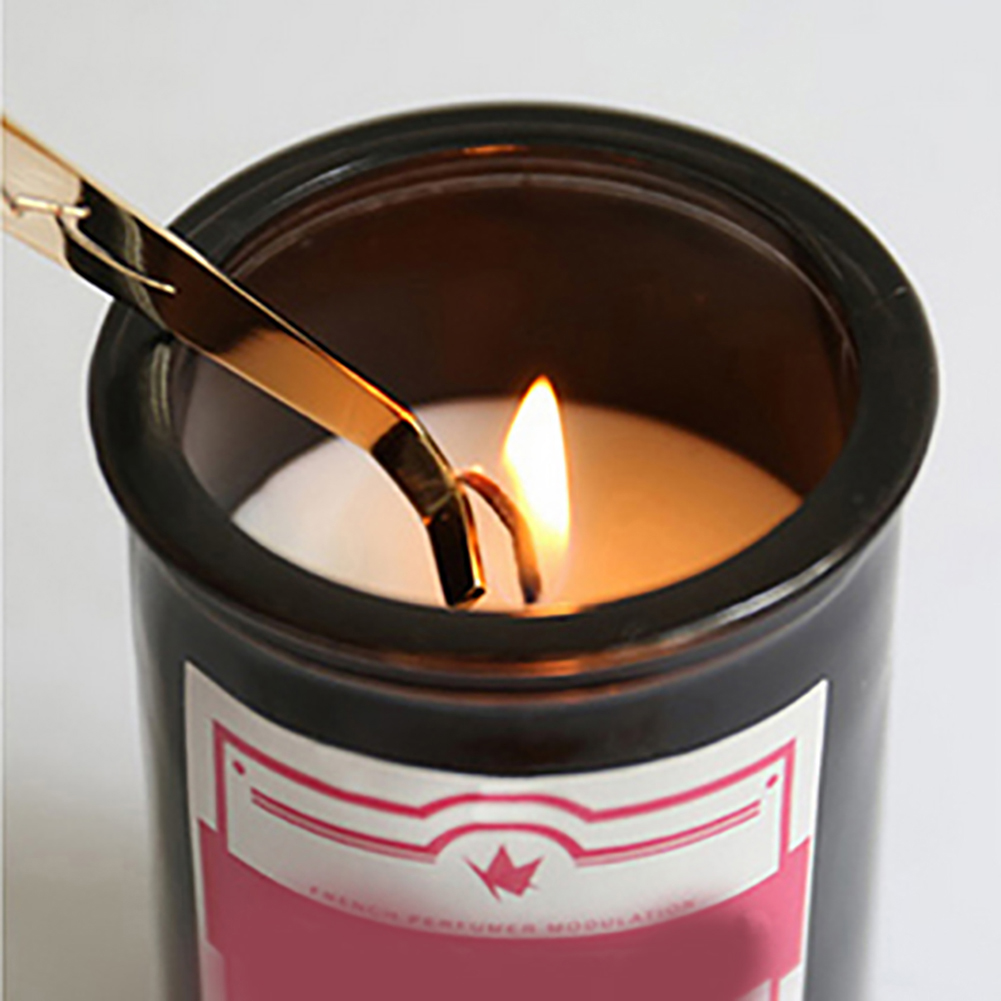Ciseau en acier inoxydable, ensemble d'accessoires de bougies, ensemble de 4 pièces