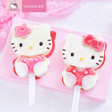 HELLOKITTY Food Grade Silicone Ice Cream Mold Popsicle Mold  fondant molds  silicone molds декоративная ручка hellokitty