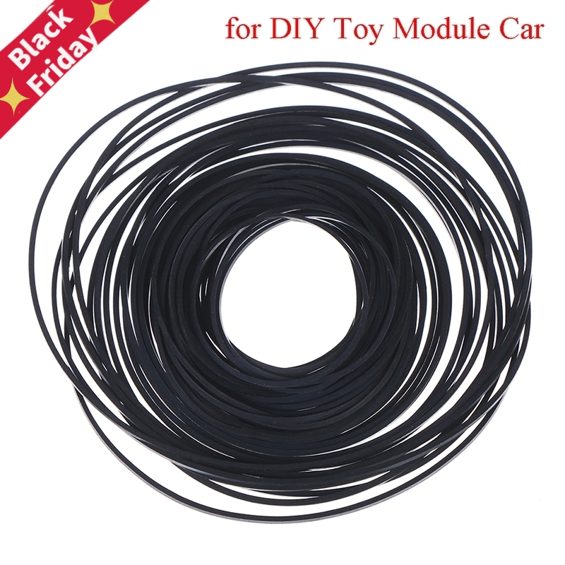 Mix Cassette Tape Replacement Rubber CD DVD Cassette Tape Recorder Turntable Strap Belt For CD-ROM Video Machines 1*1mm