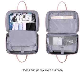 ECOSUSI Nylon Women Bags Women\'s Shoulder Travel Bags Business Trip Tote Bag Big Capacity Laptop Brand Bag Travel Accessores