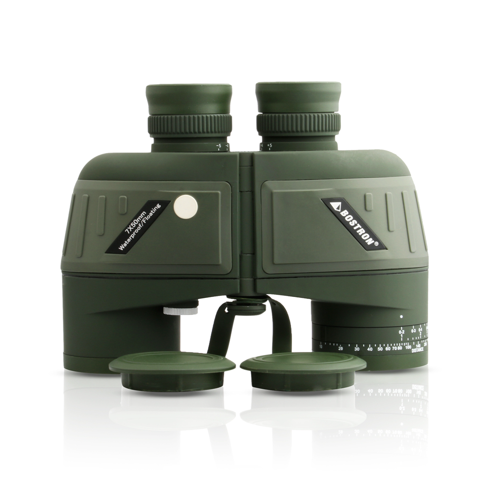 New Full Covered Compass Military Binoculars 10x50 Night Vision Stabilized Rangefinder Binoculars For Voyage Powerful Quality 5