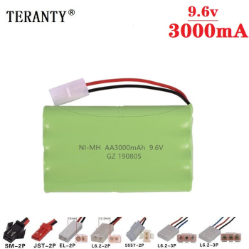 ( H Model ) 9.6v 3000mah NiMH Battery For Rc toy Car Tanks Trains Robot Boat Gun Ni-MH AA 2400mah 9.6v Rechargeable Battery 1Pcs