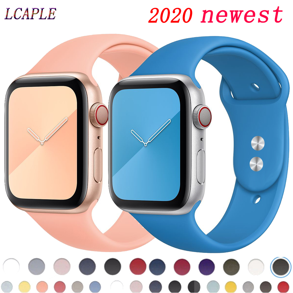 Strap For Apple Watch 5 Band 44mm 40mm Soft Silicone Comfortable Watchband Correa Pulseira Iwatch Series 5 4 3 2 1 42mm 38mm 44