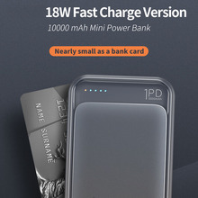P65 Type C Power Bank 10000mah Mini External Battery LED Dis