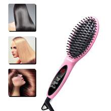 Tourmaline Ceramic LED Display Negative Ion Hair Straightening Comb