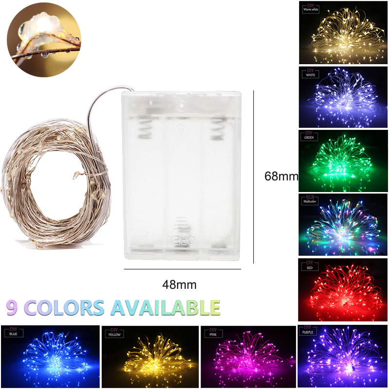 10M 100 LED Christmas Lights USB Or Battery Fairy Garland Indoor And Outdoor Light Garland String Festive Lights Decoration