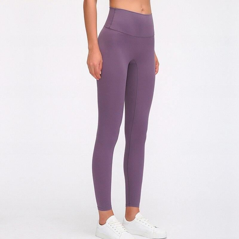 Calças de Yoga Treino de Fitness Feminino Cintura Alta Clássico Versão Macio Nu-sentir Squatproof Esportes Leggings Ginásio Collants Xs-l 3.0