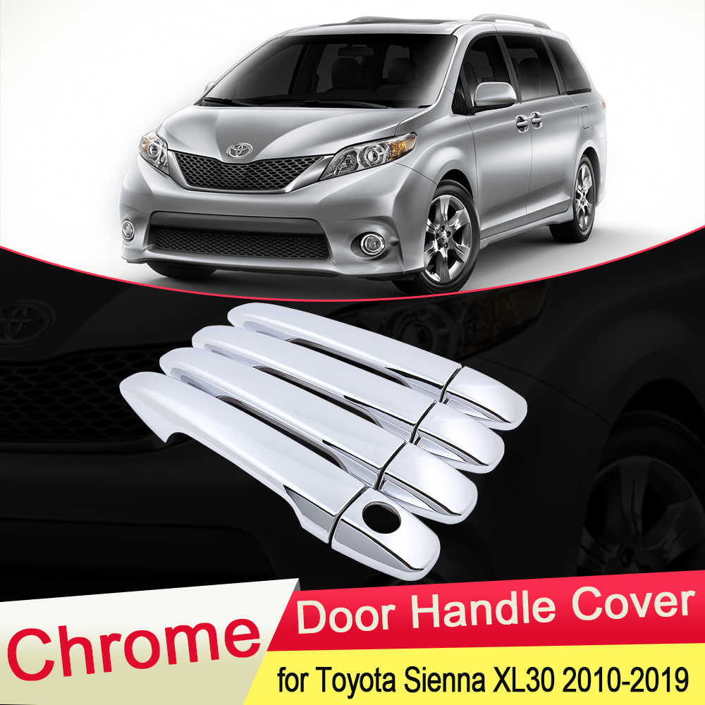 Voor Toyota Sienna XL30 2010 2011 2012 2013 2014 2015 2016 2017 2018 2019 Chrome Deurgreep Cover Trim Auto stickers Accessoires