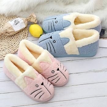 Теплые женские ботинки с милым котенком; Рождественская хлопковая зимняя обувь для всей семьи; женские ботинки; Прямая поставка
