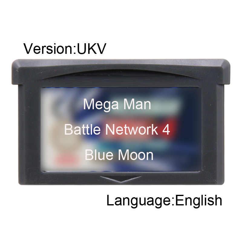 Meg Man Battl Network 4 Blue Moon 32 бит картридж для видеоигр консоль карта UKV версия на английском языке