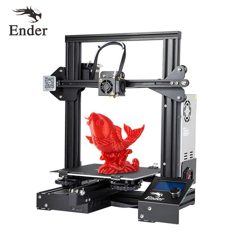 Ender-3 3d pinter kit diy vidro/cama removível grande opção tamanho de impressão ender 3 continuação potência v-slot prusa i3 creality 3d