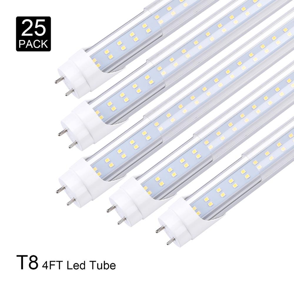 Tubo de luz LED 4 pies 2835 SMD T8 accesorio LED 4 pies 4 pies tubo LED T8 28W 1200MM 1,2 M tubos luz blanca fría 6500K AC85-265V Luz LED de techo Yeelight 480, APP inteligente, WiFi y Bluetooth, luz de techo, control remoto para sala de estar y Google Home