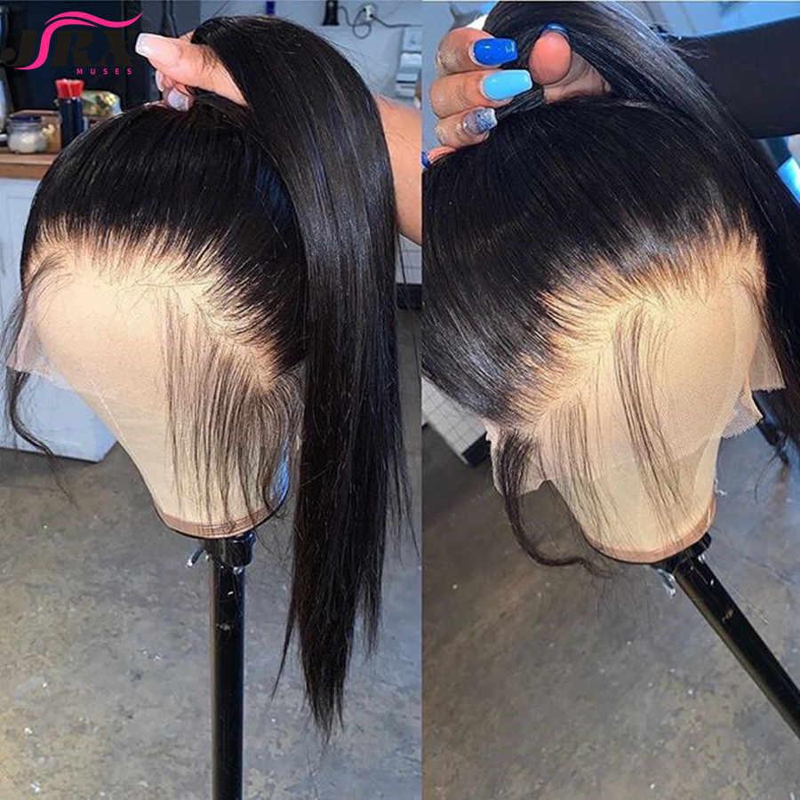 Gerade Spitze Vorne Menschenhaar Perücken 13x6 Pre Gezupft Lange Reines Haar Schließung Perücken Für Schwarze Frauen 150 dichte Mit Baby Haar