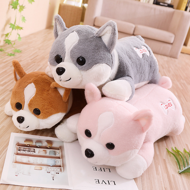 1pcs 60-100cm Cute Corgi Dog Plush Toy Stuffed Soft Animal Shiba Inu Chai Pillow Cartoon Christmas Gift For Kids Children Girls