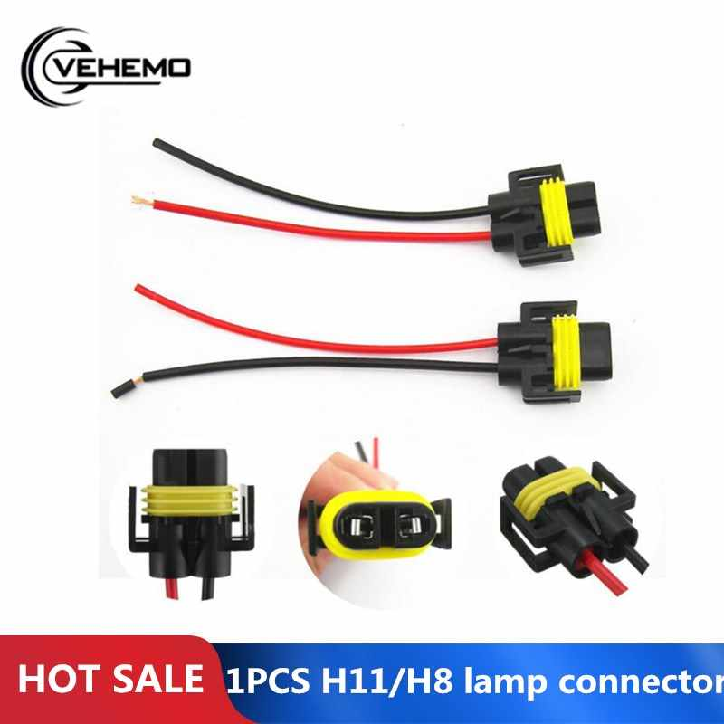 1PCS H11/H8 lamp connector Mains Plug Car Wiring Connection Cable Adapter for HID LED Fog Light Head Light Lamp