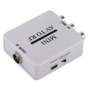 Image 3 - Mini HD Video dönüştürücü kutusu RCA AV CVSB RF Video adaptörü dönüştürücü destekler MHz 61.25 67.25 TV anahtarı