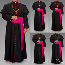 Romano preto sacerdote casmeia robe cinto clérigos vestimentas ritual medieval robe feiticeiro preto sacerdote robe cinto cintura cosplay